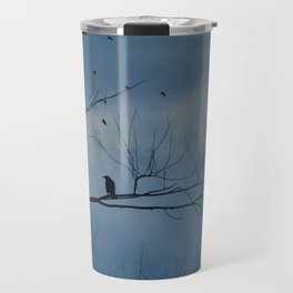 Moody Blue Sky Travel Mug