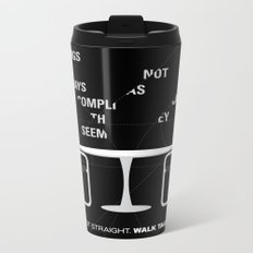 Sit straight. Walk tall. A PSA for stressed creatives. Metal Travel Mug