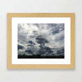Intense Clouds Framed Art Print
