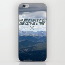 One Step At a Time iPhone Skin