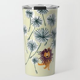 Lion on dandelion Travel Mug