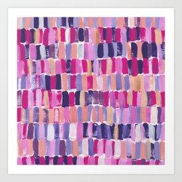 Colorful stripes || Pattern Art Print