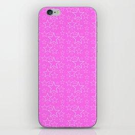 White and Pink Stars iPhone Skin