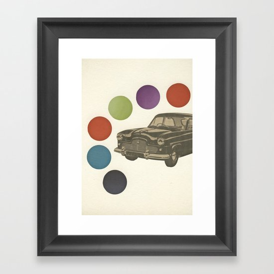 Driving Around in Circles Framed Art Print
