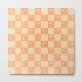 Tangerine Pattern Metal Print