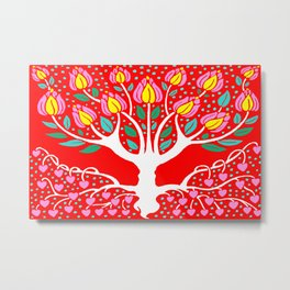 Love Grows Forever - Tomato Red Metal Print