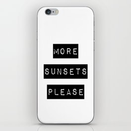 more sunsets please iPhone Skin