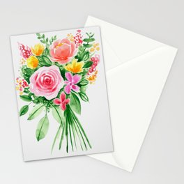 Flower bouquet loose watercolor style Stationery Cards