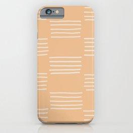 hatches – peach iPhone Case