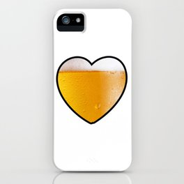 Beer Pint Heart iPhone Case