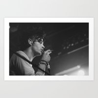 matty healy Art Prints featuring Matt Healy by Andras Wobe Kocsis