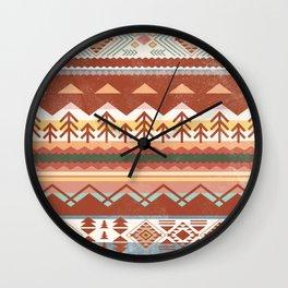 Boho Graphic Moroccan Oriental Carpet Modern Pattern Art Design - 1 Wall Clock