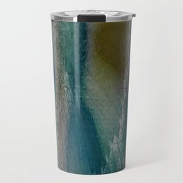 Industrial Wings in Teal Travel Mug