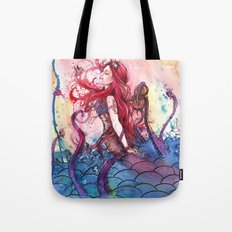 Steampunk Mermaid Tote Bag
