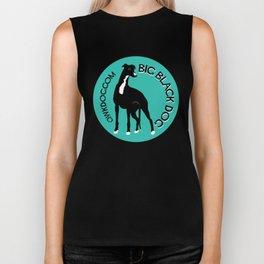 QwkDog Greyhound: The Big Black Dog Biker Tank