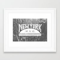 nyc Framed Art Prints featuring NYC by Zeke Tucker