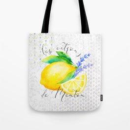 Les Citrons de Menton—Lemons from Menton, Côte d'Azur Tote Bag