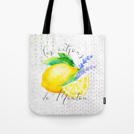 Les Citrons de Menton—Lemons and Lavender, Provence Tote Bag