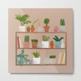 Plant Mama Shelfie Metal Print