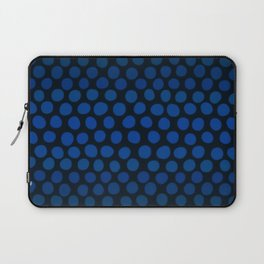 Slate Blue and Black Dots Ombre Laptop Sleeve