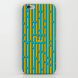 Allah Kufic Calligraphy (Blue) iPhone Skin