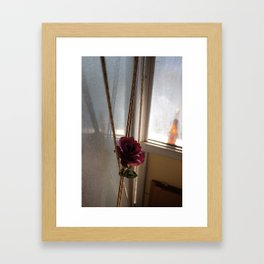 At the stables Framed Art Print