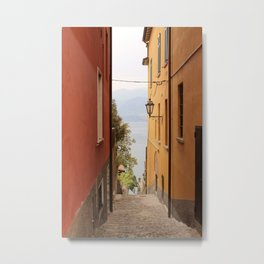 Alley in Varenna Metal Print