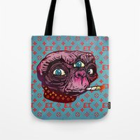 et Tote Bags featuring ET Mofo by Beery Method