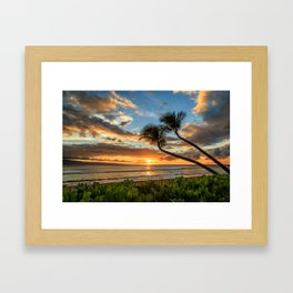 Sunset In Kaanapali Framed Art Print