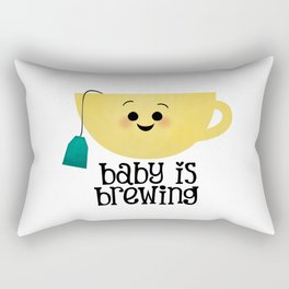 Baby Is Brewing - Tea Cup Rectangular Pillow