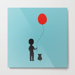 Boy with the Red Balloon Metal Print