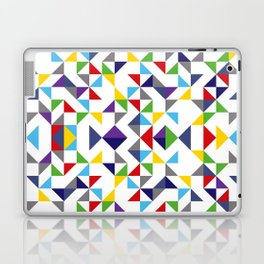 Geometric Pattern Colorful, white background. Good vibes by Cokowo. Laptop & iPad Skin