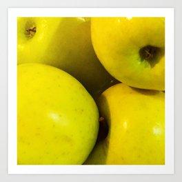Manzanas Art Print