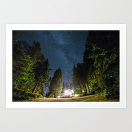 Lodge Under the Stars Art Print