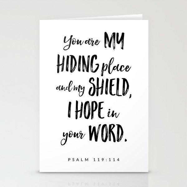 Psalm 119:114 - Bible Verse Stationery Cards by byalliza