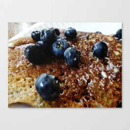 Almond Flour Pancakes w/Blueberries and Agave Canvas Print