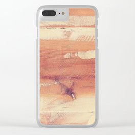 Wood planks shipboard texture Clear iPhone Case
