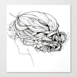 Messy Braid Bun Canvas Print