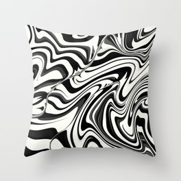 SUBCULTURE black and white mod design Throw Pillow