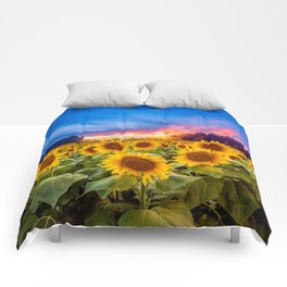 Sunflower Sunset Comforters