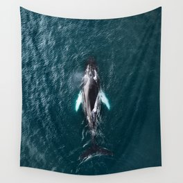 Humpback Whale in Iceland - Wildlife Photography Wall Tapestry