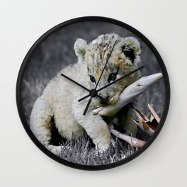 Baby lion cub Wall Clock