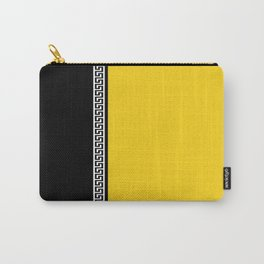 Greek Key 2 - Yellow and Black Carry-All Pouch