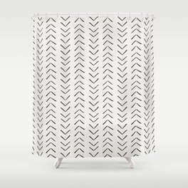 Mud Cloth Big Arrows in Cream Shower Curtain