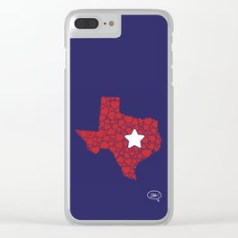 Lonestar Love Clear iPhone Case