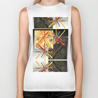 fireworks Biker Tanks featuring Fireworks by MZ Designs