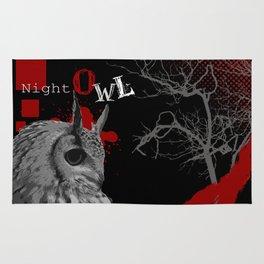 Trash Polka Night Owl & Tree Branches Rug