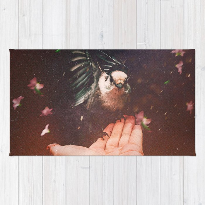 A Bird In The Hand Rug