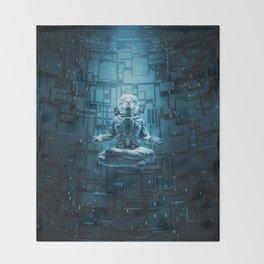 Astro Lotus Throw Blanket