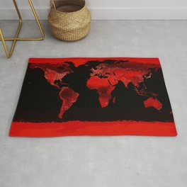 WORLD map : Red Rug